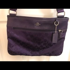 Coach purple crossbody bag
